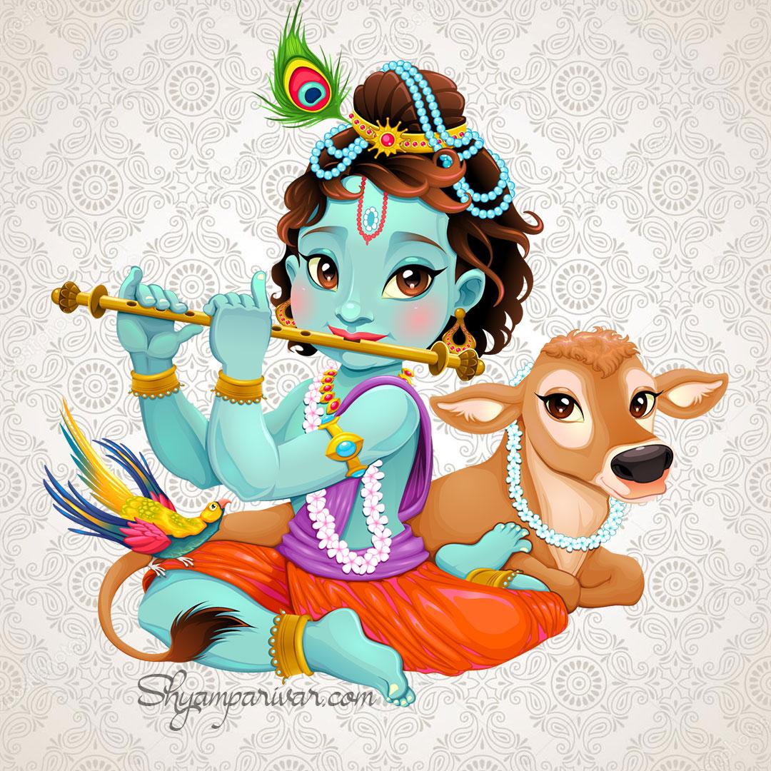 Lord krishna image painting