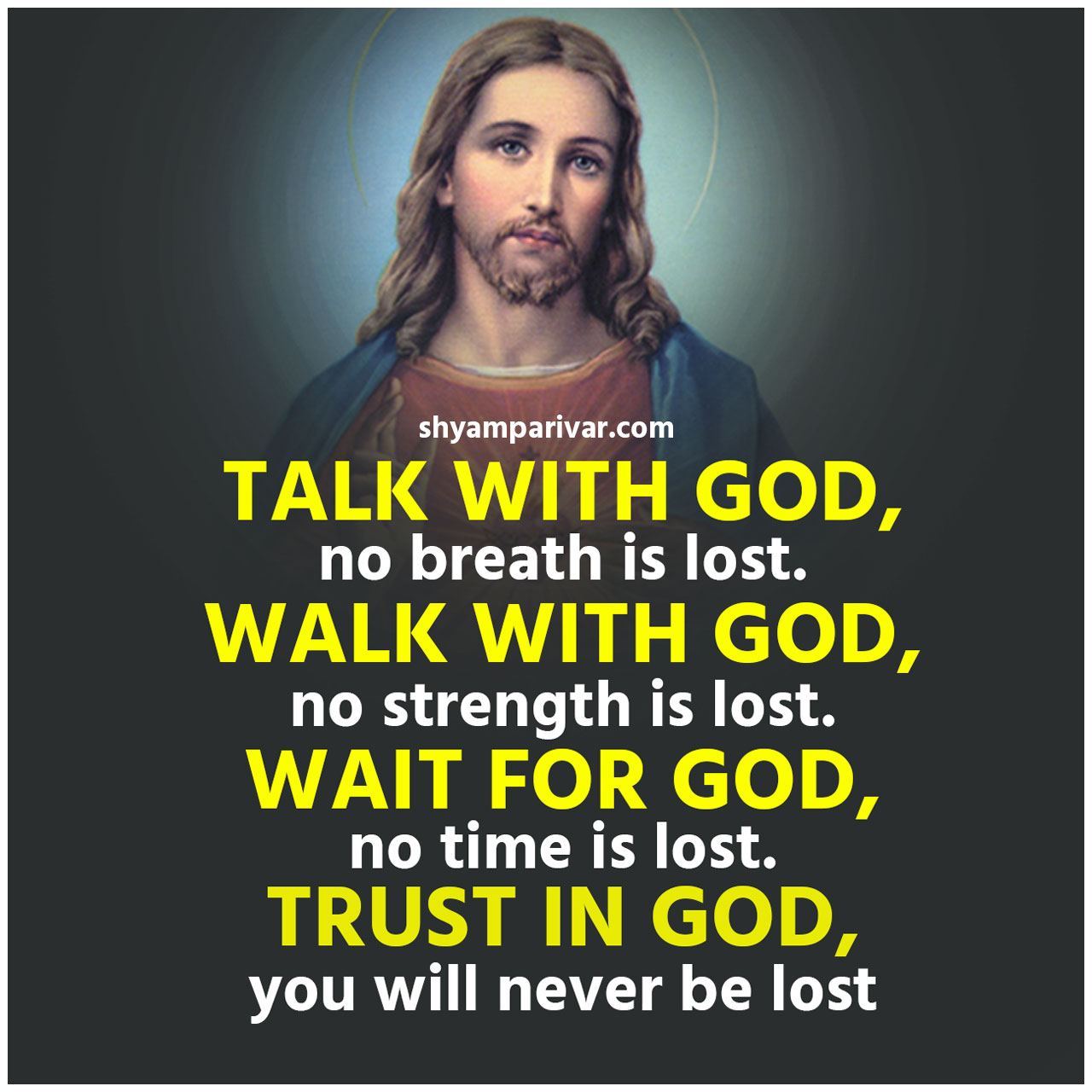 Trust in god quote image