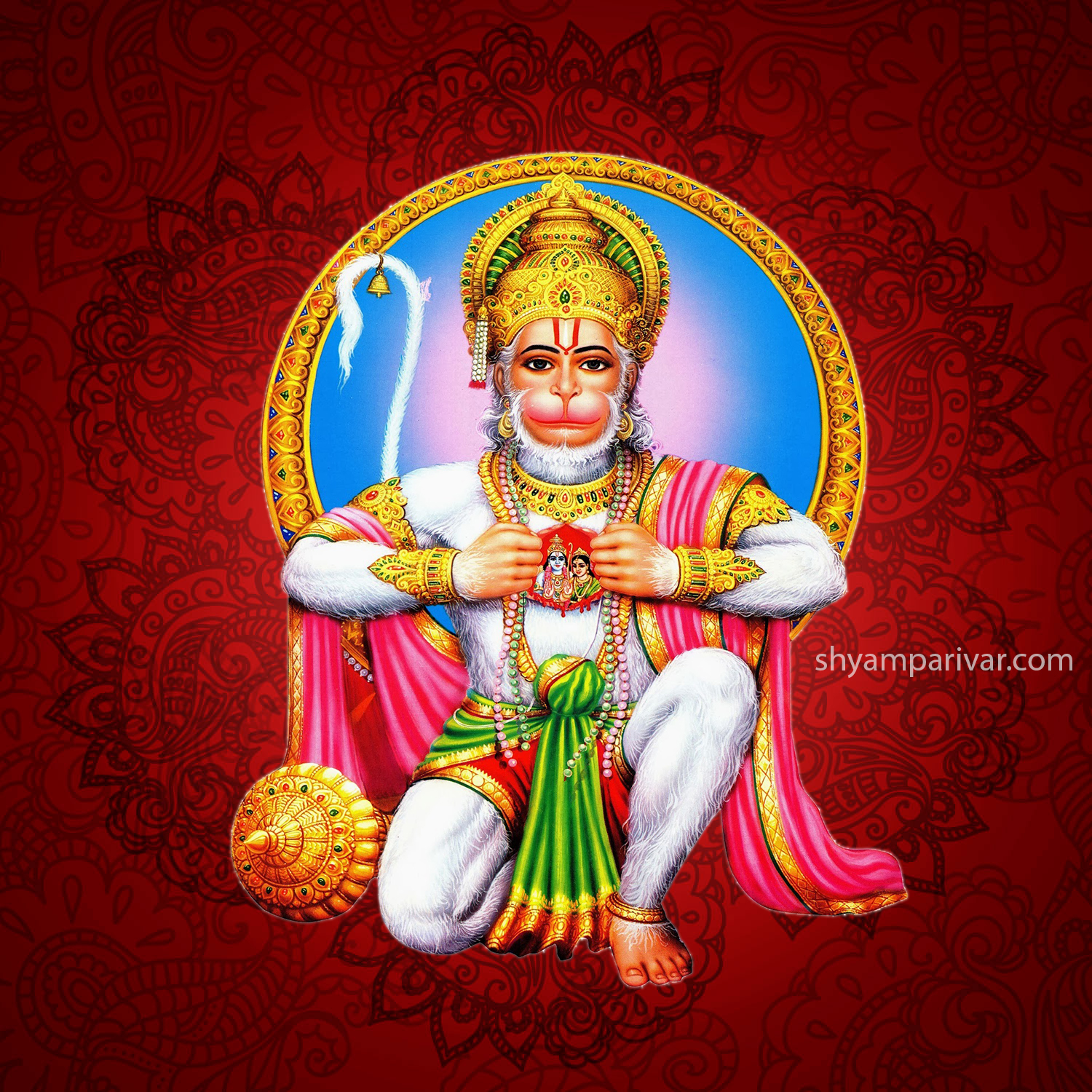 images of lord Hanuman with rama sita