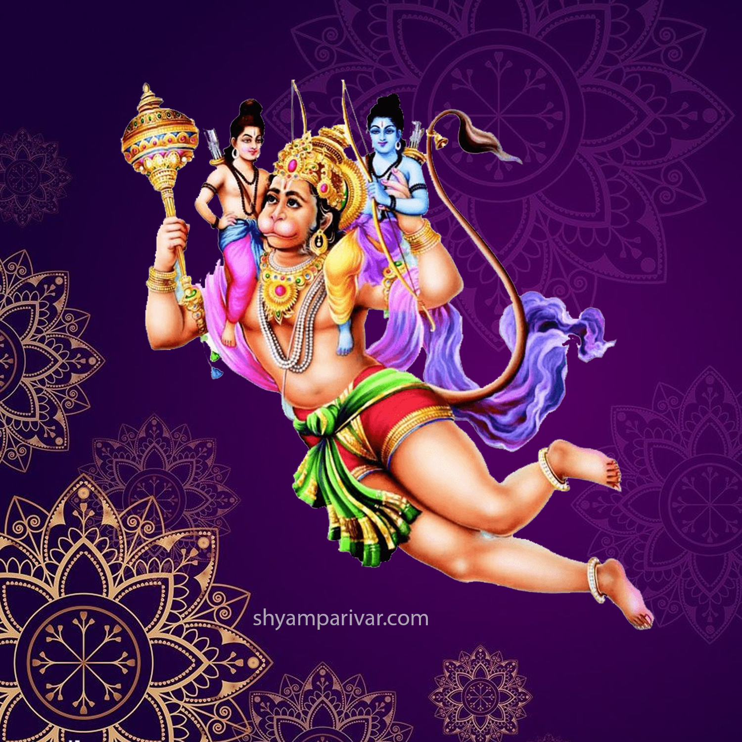 Best Hanuman Ji Photo with Shri Ram and Lakshman